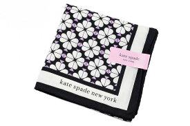 ケイト スペード ニューヨーク ハンカチ レディース 1枚 ブランド kate spade new york 黒 ブラック クローバー プリント 女性 婦人 ケート 【あす楽】