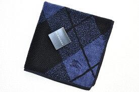 バーバリー タオルハンカチ 1枚 メンズ ブランド BURBERRY 濃 紺 ネイビー アーガイル 男性 紳士 【あす楽】