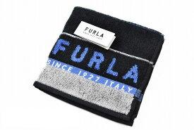 フルラ タオルハンカチ ハンカチ 1枚 メンズ ブランド FURLA ブラック 黒 ボーダー デザイン 男性 紳士 ハンドタオル 【あす楽】