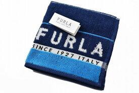 フルラ タオルハンカチ ハンカチ 1枚 メンズ ブランド FURLA ボーダー デザイン ネイビー × ブルー 男性 紳士 ハンドタオル 【あす楽】