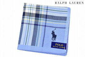 ポロ ラルフローレン ハンカチ 1枚 メンズ ブランド POLO Ralph Lauren 青 ライトブルー × マルチカラー チェック 男性 紳士 【あす楽】
