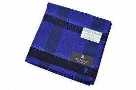 ランバン コレクション ハンカチ 1枚 メンズ ブランド LANVIN COLLECTION ブルー マーブル ライン チェック 男性 紳士 【あす楽】