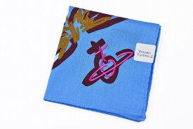 ヴィヴィアン ウエストウッド ハンカチ レディース ブランド Vivienne Westwood 1枚 スカイブルー ORB プリント | 女性 婦人 【あす楽】