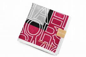 マイケルコース ハンカチ レディース 1枚 ブランド MICHAEL KORS グレー × ピンク ロゴ 女性 婦人 【あす楽】