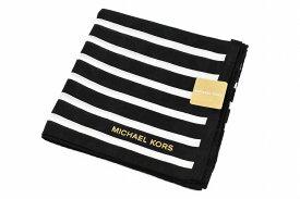 マイケルコース ハンカチ レディース 1枚 ブランド MICHAEL KORS ブラック 黒 × ホワイト 白 ボーダー 女性 婦人 【あす楽】