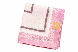 マイケルコース ハンカチ レディース 1枚 ブランド MICHAEL KORS ライト ピンク アニマル × ロゴ 女性 婦人 【あす楽】