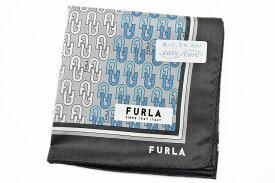 フルラ ハンカチ 1枚 メンズ ブランド FURLA グレー 系 ロゴ デザイン プリント 男性 紳士 【あす楽】