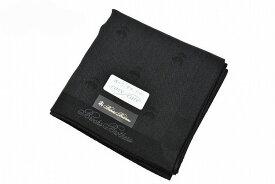 ブルックス ブラザーズ ハンカチ 1枚 メンズ ブランド BROOKS BROTHERS 黒 ブラック 織り ロゴ 男性 紳士 フォーマル 冠婚葬祭 【あす楽】