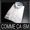 コムサイズム /長袖ドレスシャツ シャドーストライプ/ 白【XS】【S】【M】【L】【XL】 ボタンダウン COMME CA ISM sssaaa