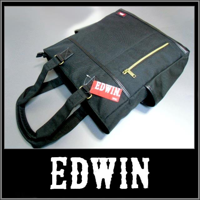【EDWIN】エドウイン【ブラック】トートバック お出かけに!sssaaaA1