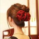 ヘッドドレス 髪飾り フラワー ビッグバラ 花 クリップ ティアラ ヘアゴム かんざし ヘアアクセサリー レディース ヘ…