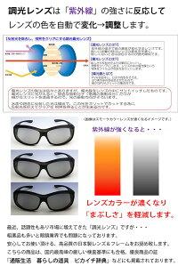 偏光調光オーバーサングラスポラフィット日本製