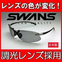送料無料SWANSスワンズSA-518エアレスウェイブ調光サングラス調光レンズドライブ自転車軽量スポーツサングラスUVカット