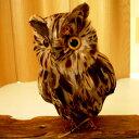 ★PUEBCO Owlふくろう ブラウン(L) プエブコ フクロウ(ミミズク)のオブジェ 置物まるで剥製のようにリアル♪雑貨通販【RCP】