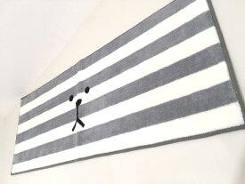 ★INITIAL CRAFT ロングマット BORDER SLOTH 45×120 /キッチンマット玄関マットソファーの足元に雑貨通販【RCP】