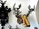 ★カラフルな北欧デザイン シカの壁飾り【BIG】  MIHO Parade Big36 MDF板を組み立てて作る鹿オブジェ雑貨通販【RCP】