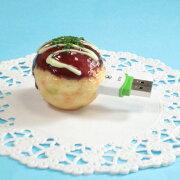 食品サンプルUSBメモリー(4GB)たこ焼き・マヨネーズ(大)