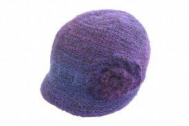 736a8c675a4 カジュアルスタイルに♪ ニット 帽子 レディースハット P.Jay 7622002 パープル 紫 レディース 婦人