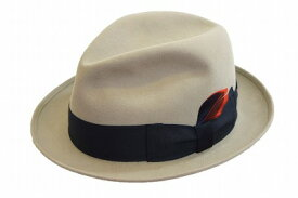 上品で落ち着きのあるデザイン♪ チロル 中折 ハット 帽子 メンズ ハット KST302 グレー KNOX(ノックス) 高級ファー 兎毛100% ファッション フォーマル エレガント クラシカル スーツ ジャケット カジュアル ネット通販 送料無料
