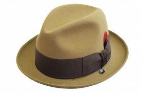シックな装い♪ ウール中折 KNOX ノックス KI350 ベージュ×ブラウン 帽子 ハット メンズ 紳士 兎毛 ラビット 高品質 暖かい 防寒対策 ファッション カジュアル リボン おしゃれ プレゼント 旅行 ネット通販 送料無料 秋冬