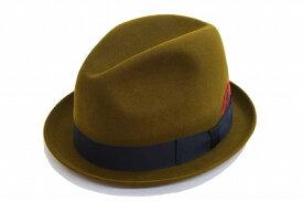 帽子好きな方におすすめ チロル 中折 ハット 帽子 メンズ ハット KJ7350 オリーブ KNOX ノックス ウール ファッション フォーマル エレガント クラシカル スーツ ジャケット カジュアル プレゼント ネット通販 送料無料 秋冬