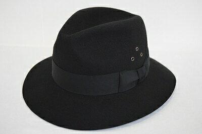 センスが光るマニッシュアイテム! ウール中折 ダウン型 ブラック 黒 帽子 ハット メンズ 紳士 レディース 婦人 ユニセックス 暖かい かっこいい帽子 ファッション カジュアル トレンド 人気商品 プレゼント 旅行 ネット通販 防寒対策 秋冬