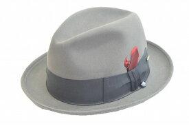 シンプルで合わせやすい ウール中折 KNOX ノックス KI325 グレー メンズ 紳士 帽子 ハット おしゃれ クール カジュアル スーツ 人気 防寒対策 暖かい プレゼント 高品質 旅行 敬老の日 ネット通販 送料無料 秋冬