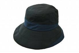 収納袋付き MODELIA モデリア レインハット 7E618 ブラック 黒 レディース 婦人 帽子 撥水加工 防汚 晴雨兼用 日除け 紫外線対策 アウトドア トレッキング 旅行 カジュアル シンプル 収納袋付き ネット通販 オールシーズン