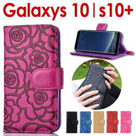 Galaxy S10 ケース 手帳型 GaraxyS10 カバー 送料無料 手帳 ギャラクシー s10(SC-03L SCV41) GalaxyS10+ (SC-04L SCV42) カバー Galaxy S10+ ケース galaxyS10ケース カバー手帳型 カメリア 花柄 ギャラクシーS10ケース ギャラクシーS10プラス カバー