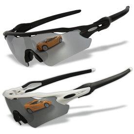 クロムイリジウム(chrome iridium) レンズ4枚 耐久素材 広い視界と保護性能 オリジナル Radar EV 偏光 スポーツサングラス 度付加工可 RE