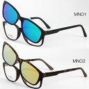 マグネット式 偏光ミラーサングラス 伊達眼鏡 度入れメガネ度付加工可 MN 送料無料