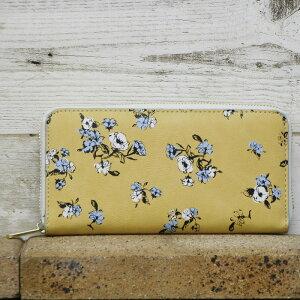 花柄プリント かわいいロングウォレット フラワー 長札
