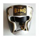 トップキング TOP KING キックボクシング ヘッドギア タトゥ 白銀 Sサイズ