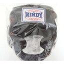 WINDY ウインディ 本革製 キックボクシング ヘッドギア ヘッドガード 黒 Mサイズ