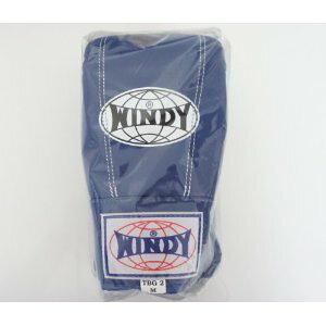 WINDY ウインディ 本革製 キックボクシング パンチンググローブ 青 Mサイズ