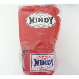 WINDY ウインディ 本革製キックボクシング グローブ 赤 16オンス