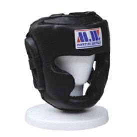マーシャルワールド MARTIAL WORLD プロ仕様スパーリングヘッドガード HG50 黒 Lサイズ