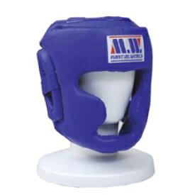 マーシャルワールドMARTIAL WORLD プロ仕様スパーリングヘッドガード HG50 青 Lサイズ