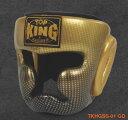 トップキング TOP KING キックボクシング ヘッドギア スーパースター 金 Lサイズ