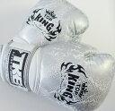 トップキング TOP KING キックボクシンググローブ SNAKE 銀白 12オンス
