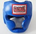 【送料無料】プロヘッドガード 青 (高級本革) ヘッドギア キックボクシング・ボクシング用 GLOBAL SPORTS グローバル…