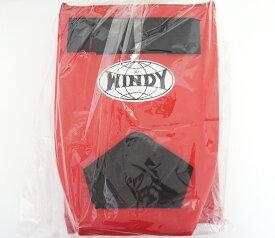 WINDY ウインディ 合皮製 キックボクシング レッグサポーター レッグガード 赤 Sサイズ