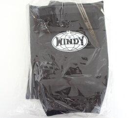 WINDY ウインディ 合皮製 キックボクシング レッグサポーター レッグガード 黒 Sサイズ