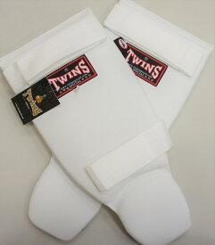 新 TWINS ツインズ 合皮製 キックボクシング レガース スネサポーター 白 Mサイズ