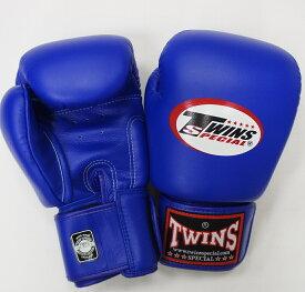 新TWINS ツインズ 本革製キックボクシング グローブ 青 8オンス