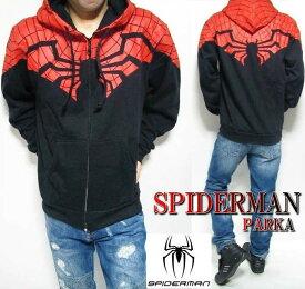 スパイダーマン グッズ メンズ パーカー/SpiderMan アメコミ/メンズ 裏起毛 キャラクター メンズファッション トップス パーカ ジップ