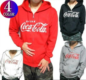 コカコーラ パーカー メンズ Coca-Cola コカ・コーラ グッズ ジップ スウェット レッド S-XL