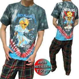 Tシャツ メンズ 半袖 METALLICA メタリカ ドレス/スカル タイダイ メンズファッション トップス Tシャツ カットソー