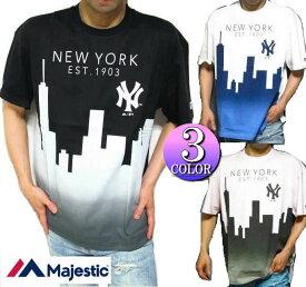 ヤンキース Tシャツ メンズ マジェスティック/majestic マンハッタン オーバーサイズ 半袖 ニューヨーク