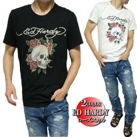 エドハーディー ed hardy エド・ハーディー Tシャツ メンズ ローズ/スカル/ドクロ 半袖 ブラック/ホワイト S-L
